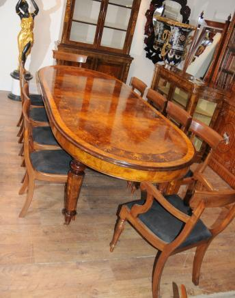 Victorian walnut table chair dining set suite ebay for Edwardian table setting