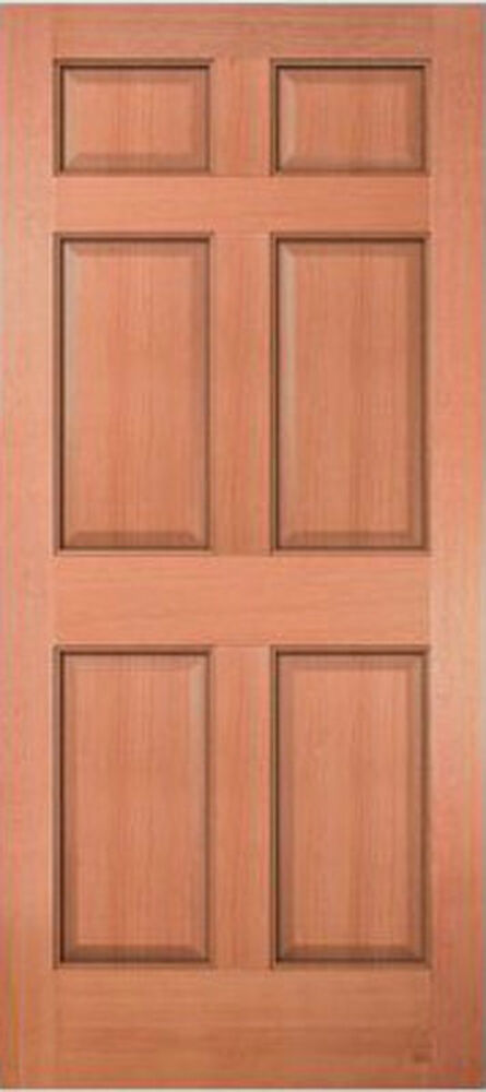 Exterior entry meranti mahogany 6 panel raised solid stain grade wood doors ebay 6 panel hardwood interior doors