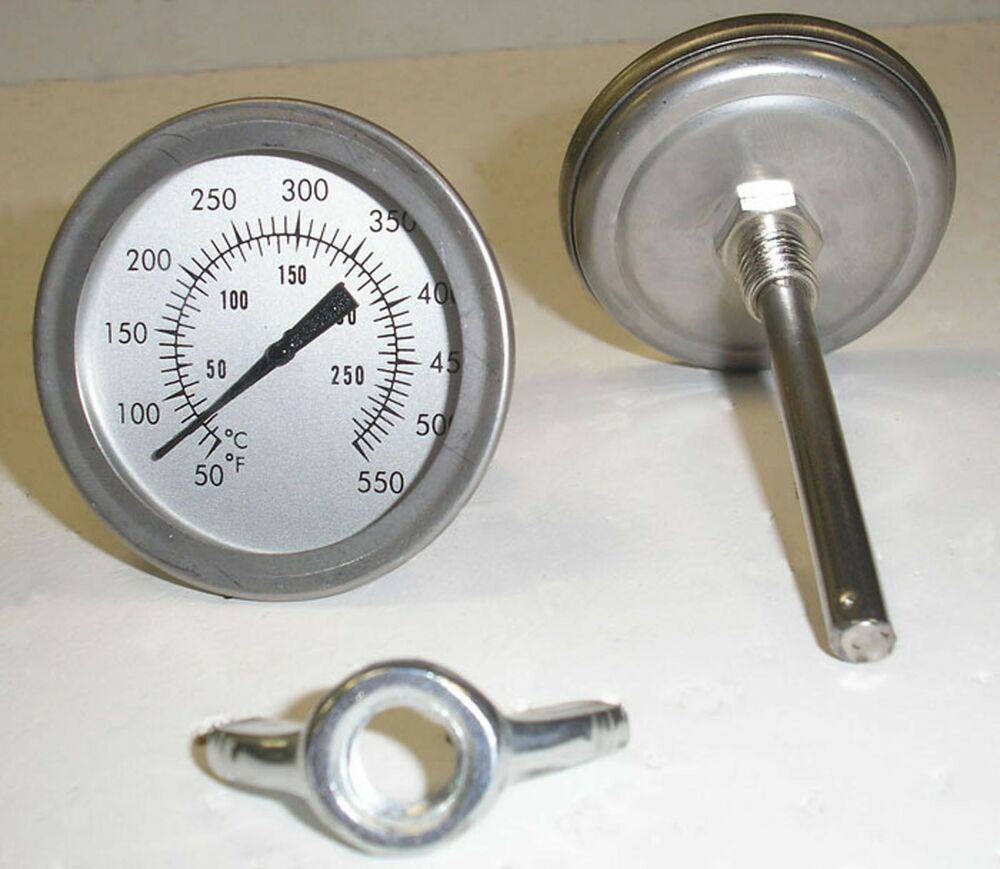 F Amp C 3 Quot Bbq Smoker Pit Grill Thermometer Temp Gauge Ebay