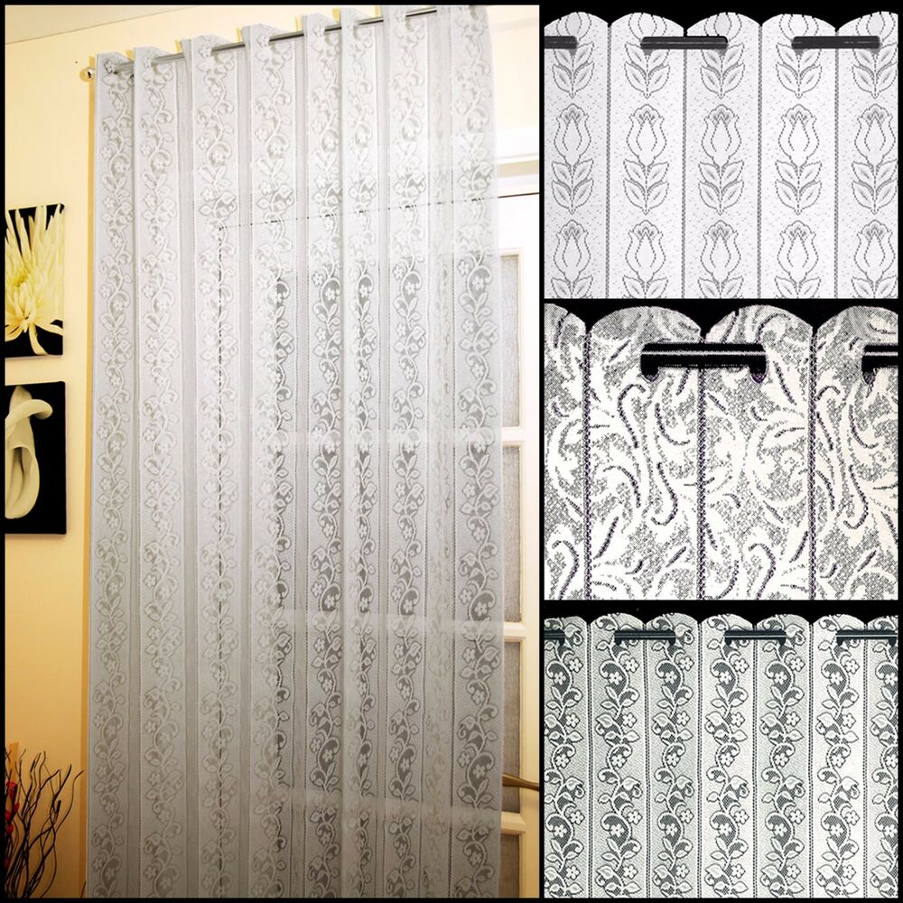 Lace Net Curtain Louvre Blinds Available In 3 Designs