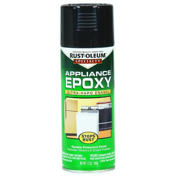 Epoxy Paint For Metal : Appliance and metal epoxy black spray paint by rustoleum