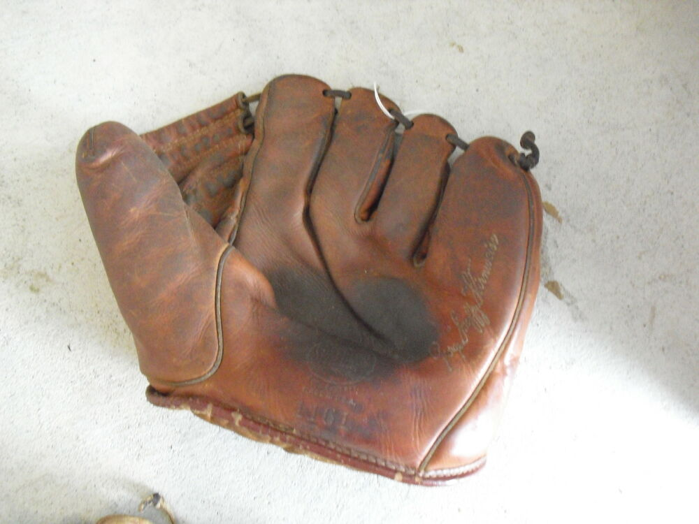 Vintage spalding baseball gloves