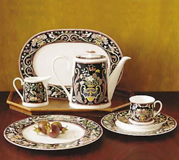 villeroy boch intarsia ii high tea cup saucer bone china brand new. Black Bedroom Furniture Sets. Home Design Ideas