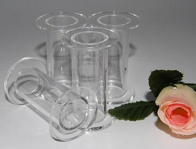 wedding cake pillars and dowels uk 4 x 2 5 quot clear acrylic wedding cake pillars ebay 23459
