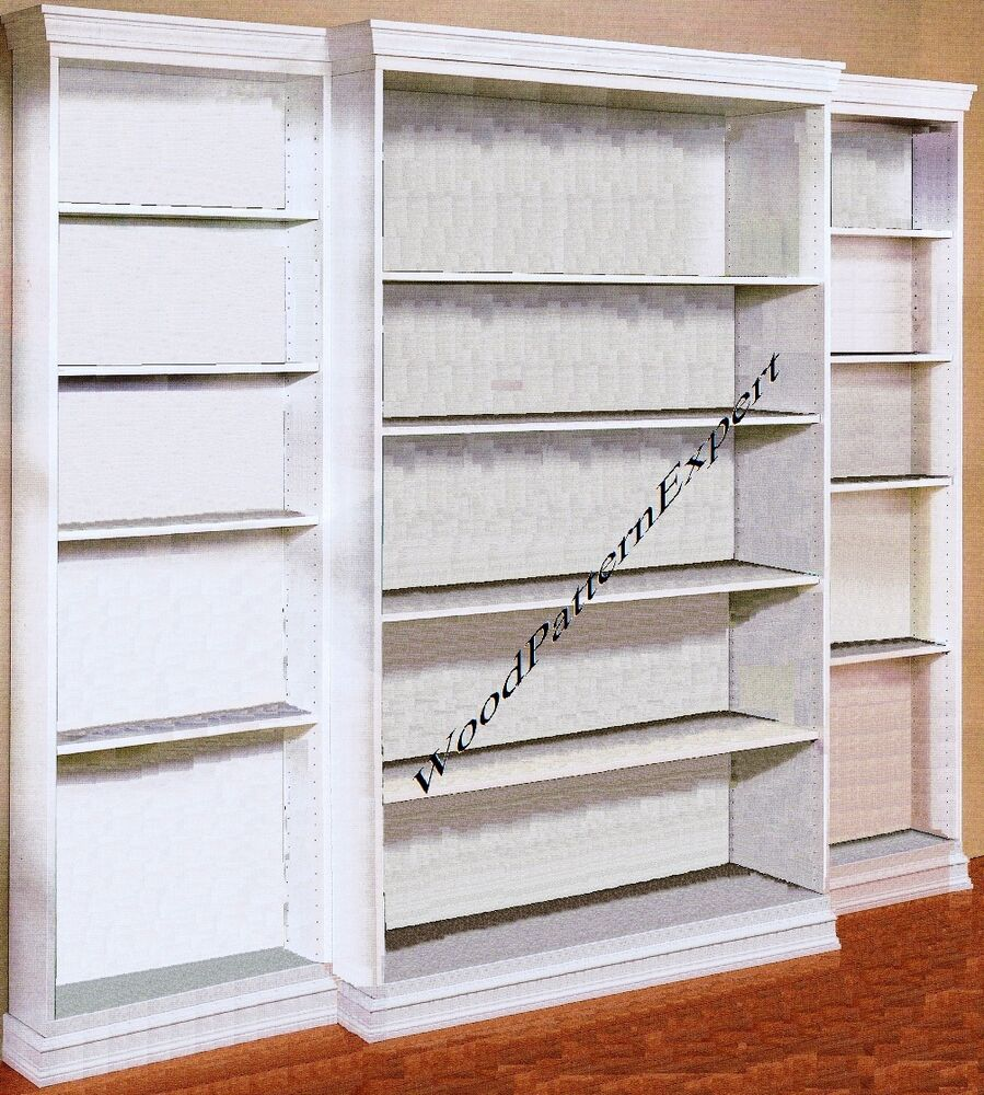 BOOKCASE Paper Patterns BUILD ANY SIZE CUSTOM BOOKSHELF LIBRARY Easy ...