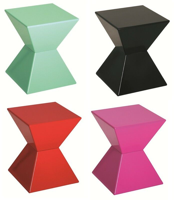 edge funky colourful high gloss lacquered side end tables