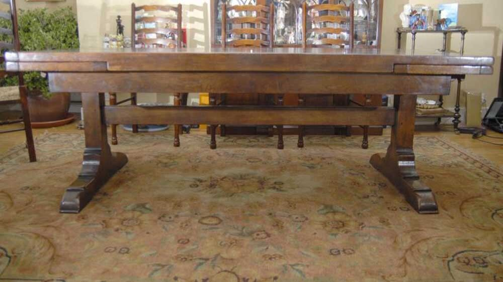 Oak refectory table english farmhouse tables 10 ft long for 10 foot long table