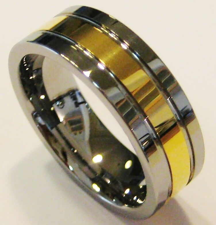wedding band genuine gold tungsten carbide ring size 12 ebay
