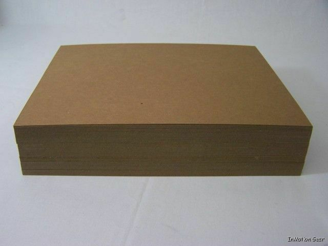 Cardboard sheets to stiffen envelopes