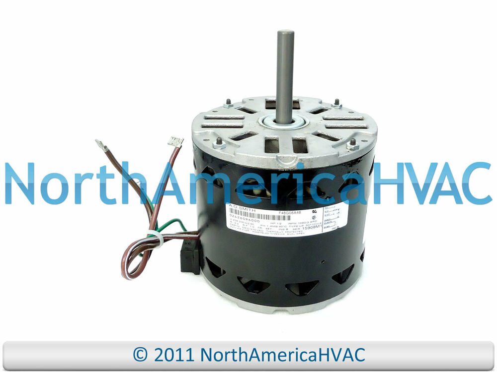 A o smith york coleman luxaire blower motor 1 2 hp 208 for Ao smith furnace motors