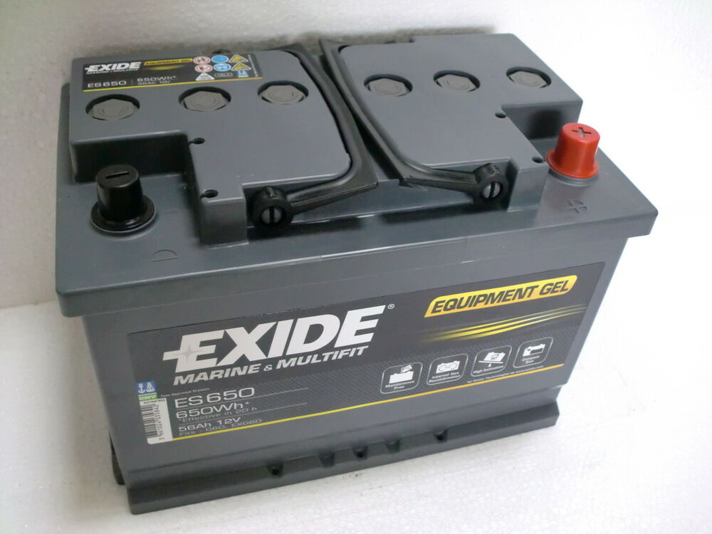 exide gel batterie 12v 60ah 56 ah es 650 ebay. Black Bedroom Furniture Sets. Home Design Ideas