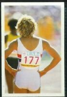 Scarce Trade Card of Shirley Strong, Athletics 1986