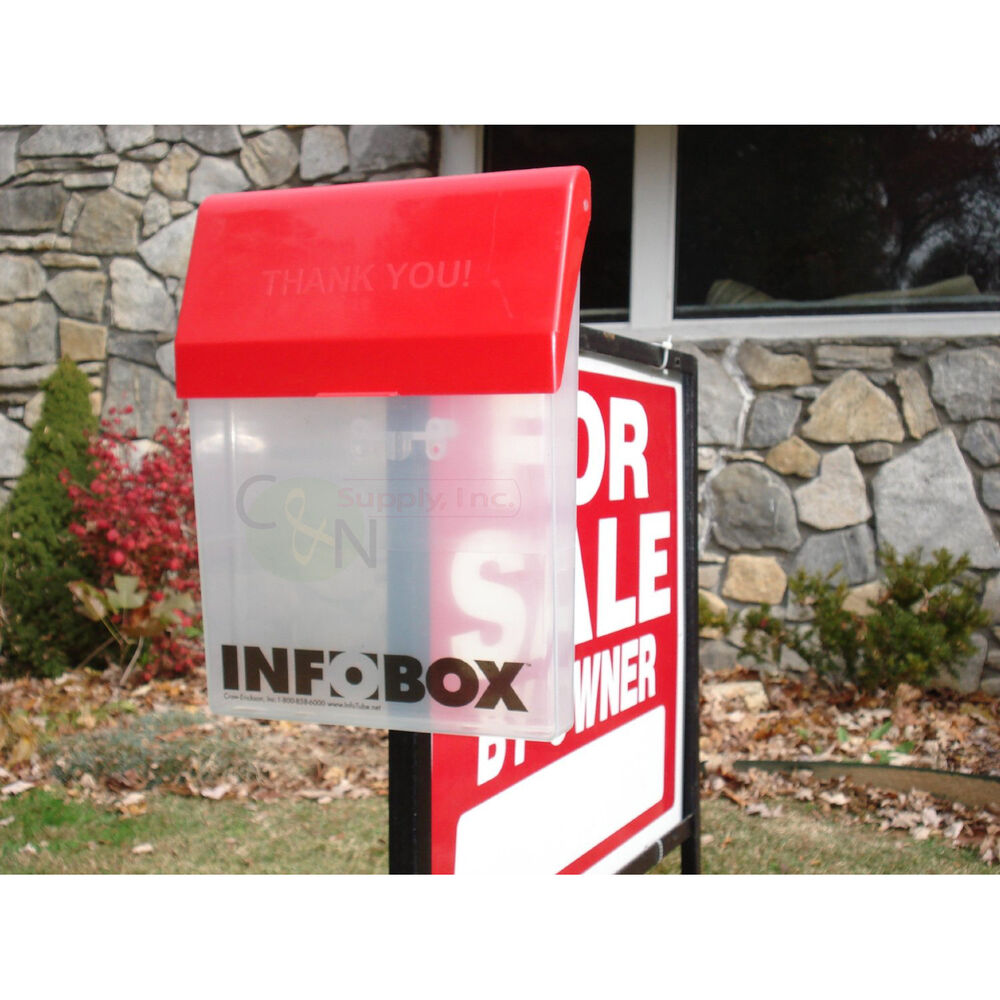 INFOBOX Outdoor Brochure Box Real Estate Literature Flyer Document ...