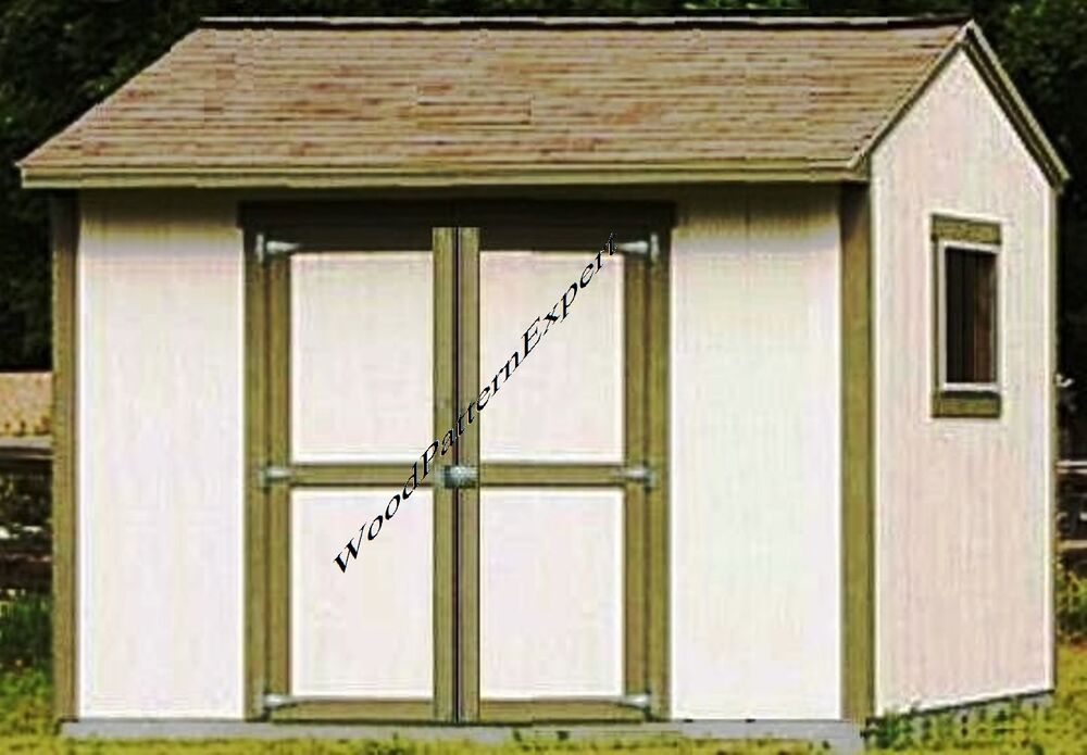 Shed 10 x 8 paper patterns build a utility storage gable for Gable storage shed plans