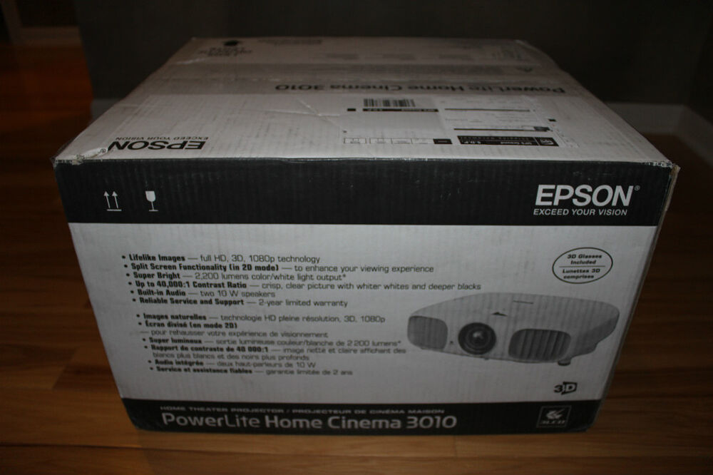 Epson Home Cinema 3010 3d 1080p Projector W 2 Pair Of 3d