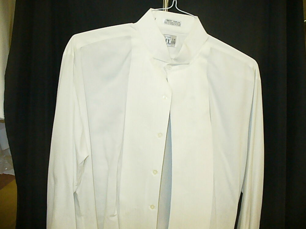 Formal Ivory Wing Collar Shirt 1 4 Inch Pleat 77720 Ebay