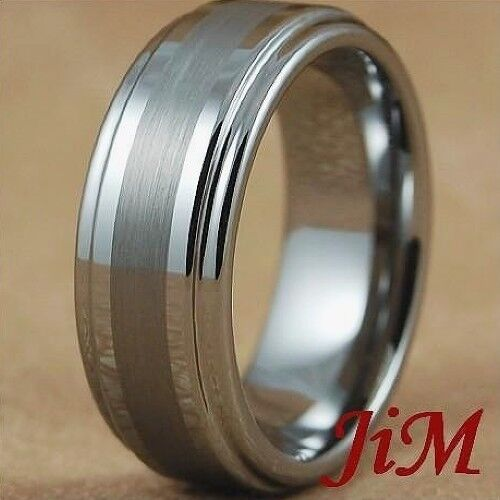 Tungsten Carbide Ring Mens Wedding Band Titanuim Color Bridal Jewelry Size 6