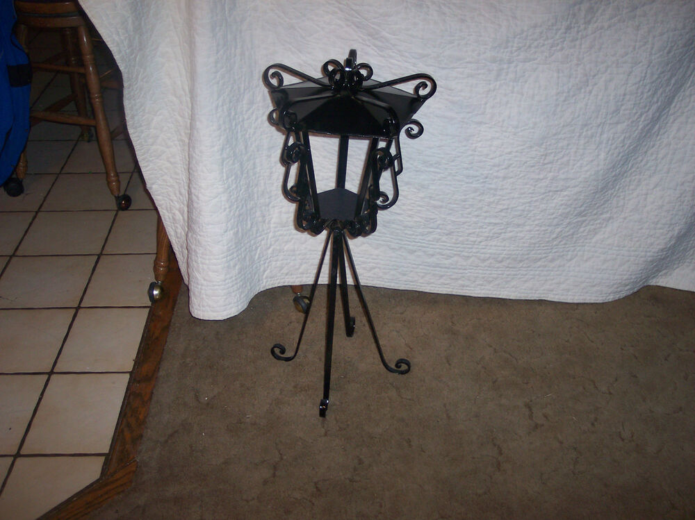 Victorian Black Iron Plant Stand Fern Stand Ps40 Ebay