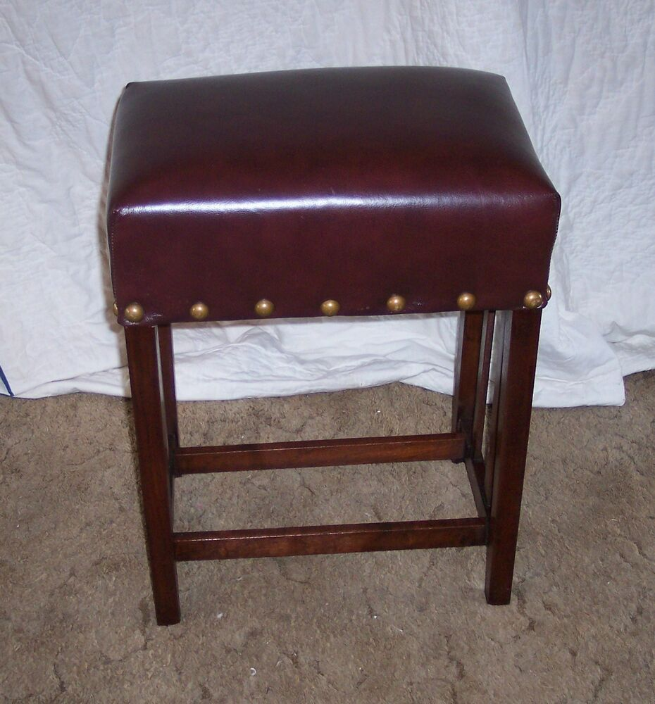 Mahogany Mission Bench Entry Bench Brown Leather Bn107 Ebay