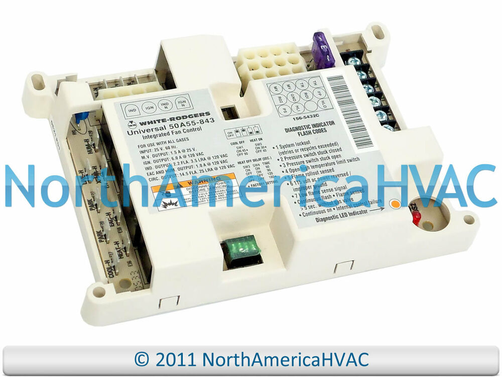 White Rodgers Furnace Fan Control Circuit Board 50a50