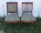 Pair of French Mahogany Sidechairs or Parlor Chairs  (SC58)