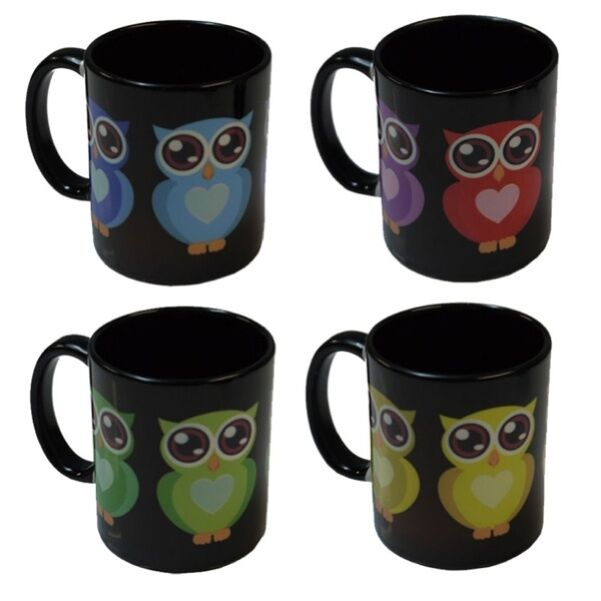 owl coffee mug sets barn owl souvenir coffee mug sets 4