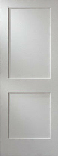 2 Flat Panel Primed Mission Shaker Stile Rail Solid Core Mdf Doors Door Slabs Ebay