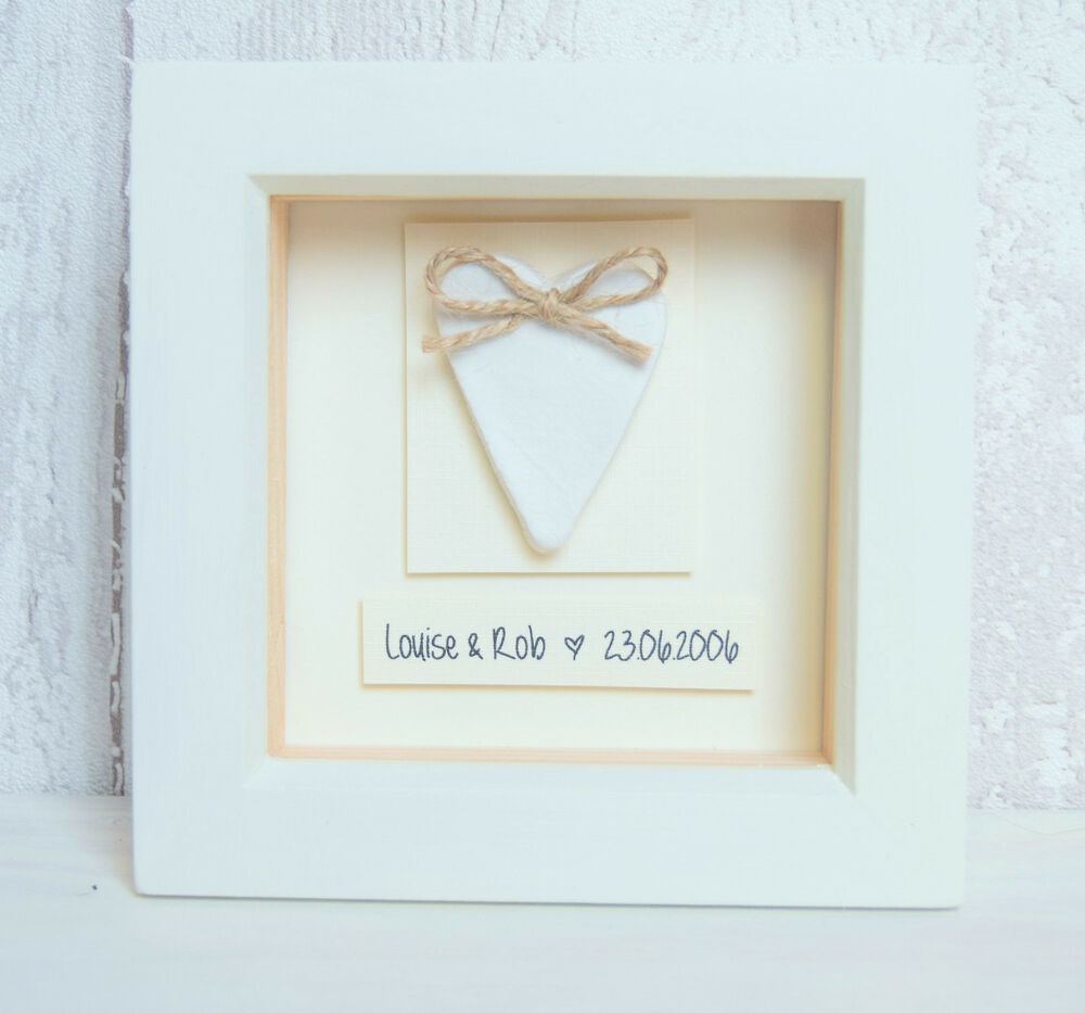 9th Wedding Anniversary Gift Leather: Clay Heart 9th Wedding Anniversary Personalised Gift