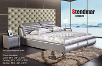 NEW MODERN STYLE  LEATHERETTE PLATFORM BED CN9026