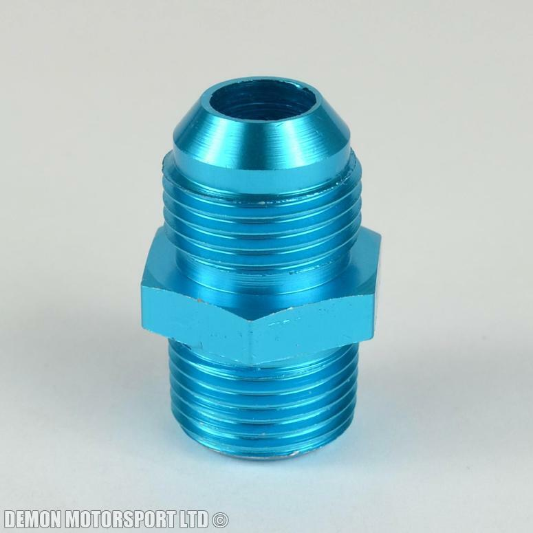 An to straight thread alloy adapter fitting p