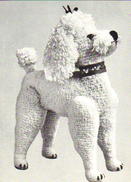 Vintage Lifelike Toy Poodle Knitting Pattern eBay
