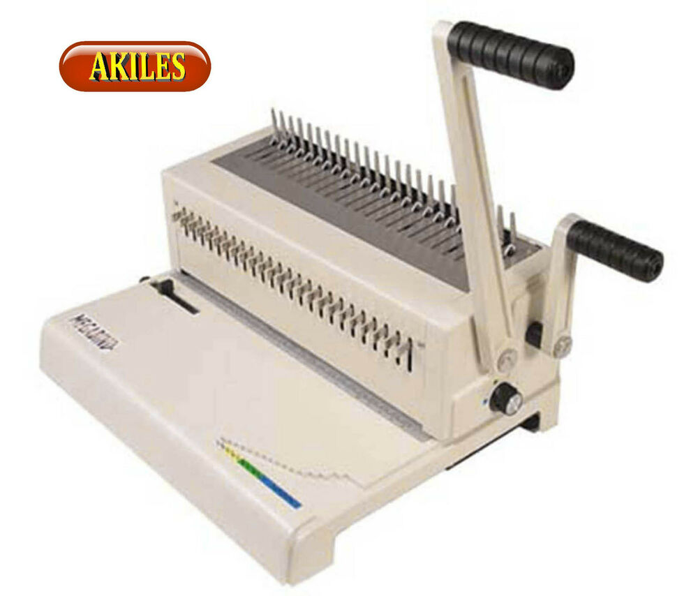 Akiles MegaBind-2 Comb Binding Machine & Punch Also Does