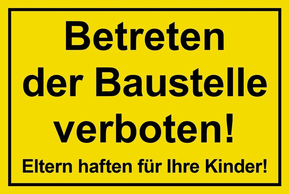 schild betreten der baustelle verboten 300 x 200 baustellenschild ebay. Black Bedroom Furniture Sets. Home Design Ideas