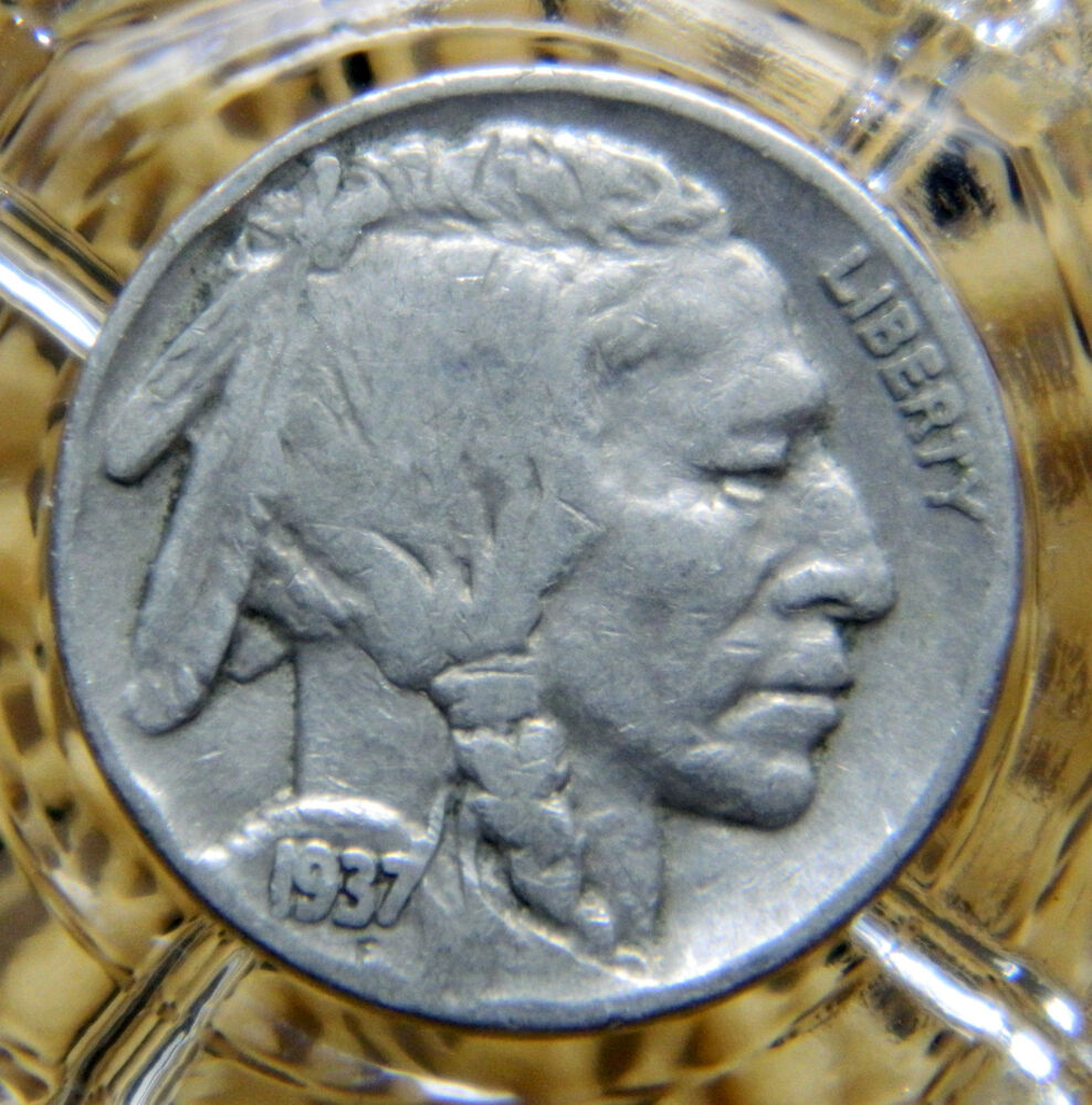 Fine 1937 P Indian Head Buffalo Nickel 8589 Ebay