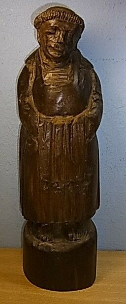 Vintage german primitive wood carved monk av ebay
