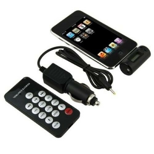 fm transmitter with car charger remote for iphone 4 3gs 3g. Black Bedroom Furniture Sets. Home Design Ideas