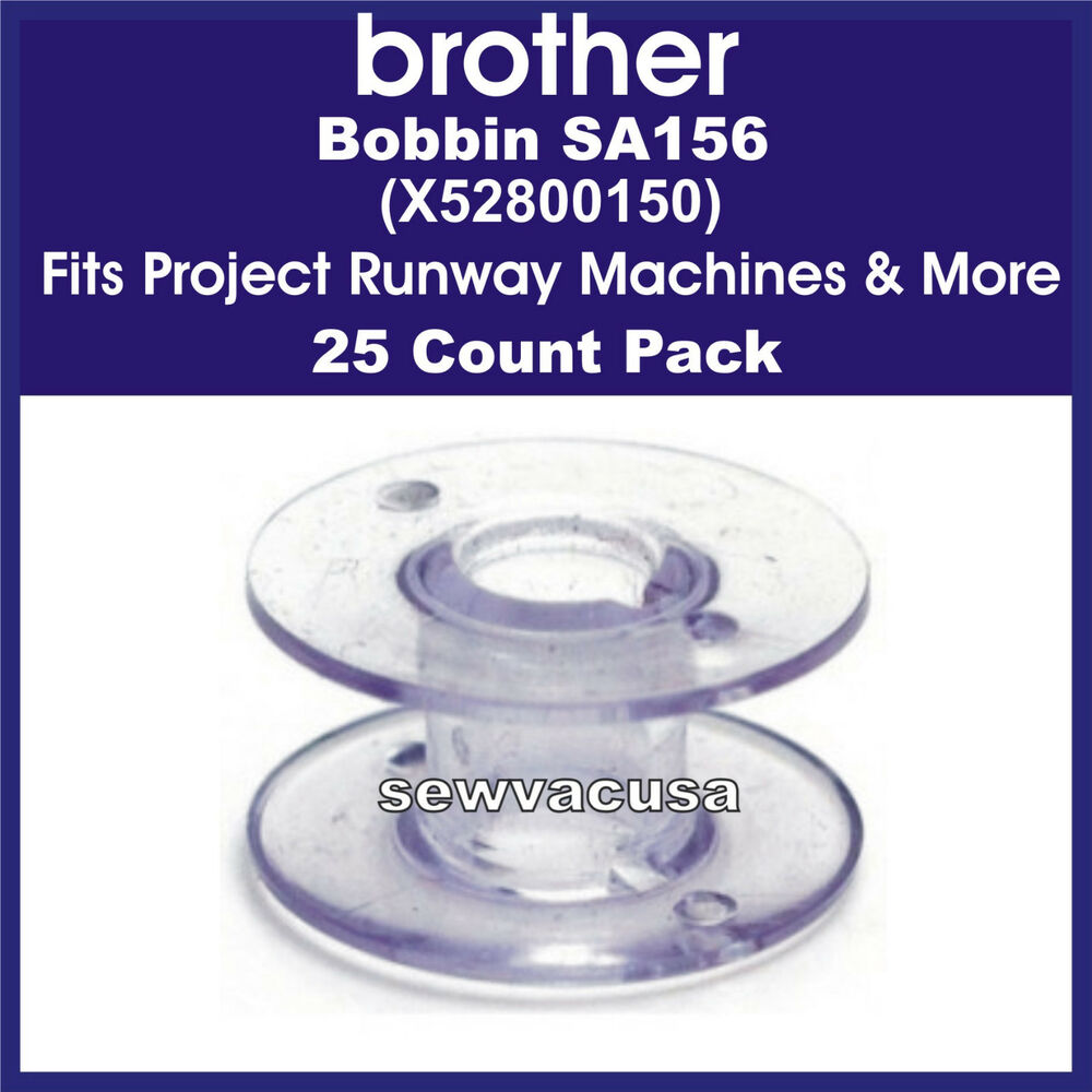 Brother SA156 25 Pack Bobbins, X52800150, Fits Project ...