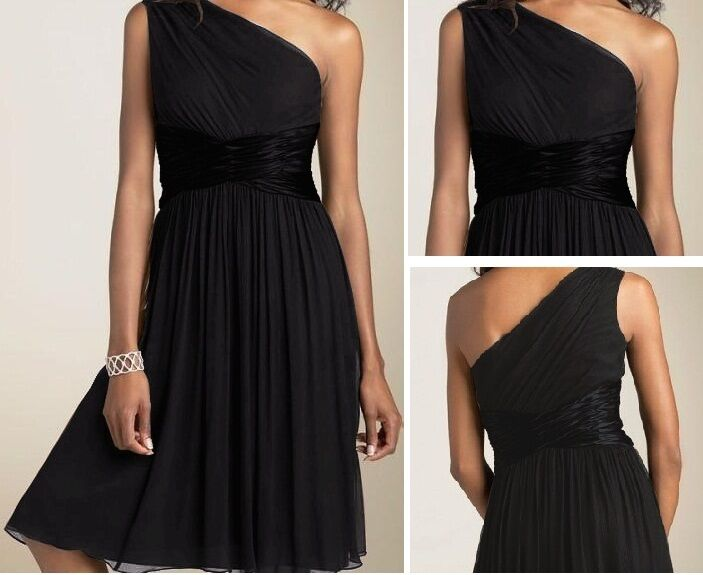 New Chiffon One Shoulder Formal Evening Cocktail