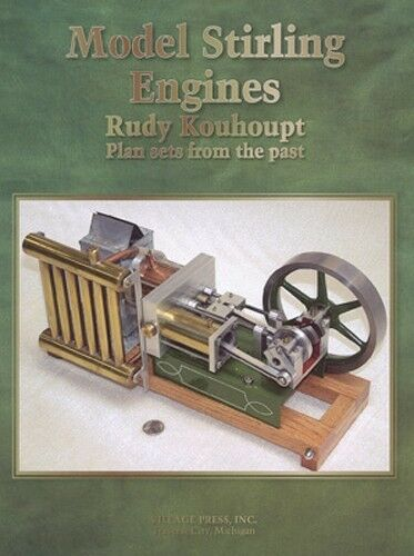Model stirling engines plan sets by rudy kouhoupt model engineering engines ebay for Stirling engine plans design blueprints