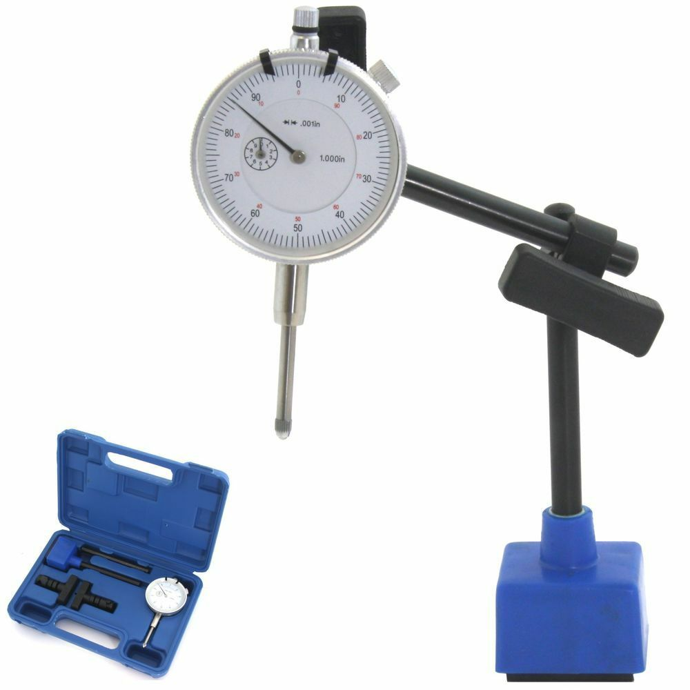 Long Indicator Contacts : Long range dial indicator quot magnetic mag base