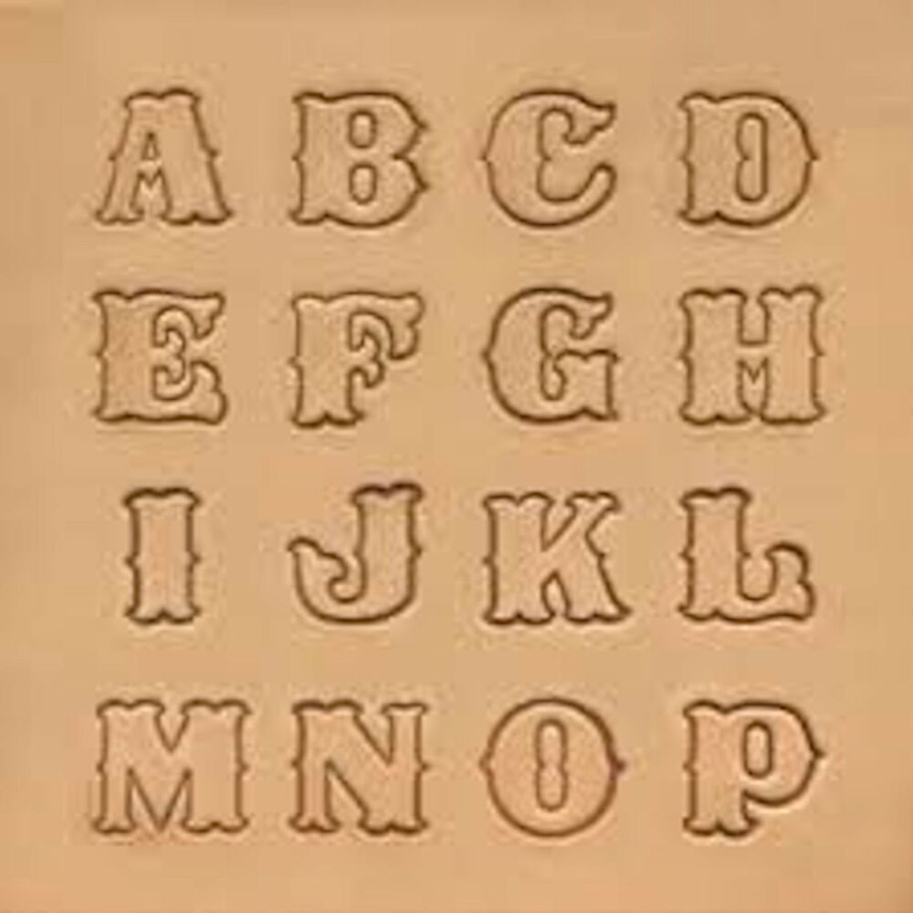 Details About Craftool Standard Alphabet Stamp Set 8131 00 By Tandy Leather