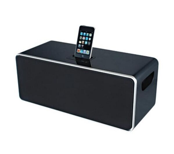 iwantit speaker system ipod8010 black ipod iphone 4 4s 3gs docking station ebay. Black Bedroom Furniture Sets. Home Design Ideas