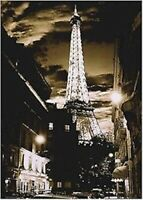 PARIS FRANCE POSTER ~ EIFFEL TOWER GLOWING NIGHT 24x36 Travel Photography 0246