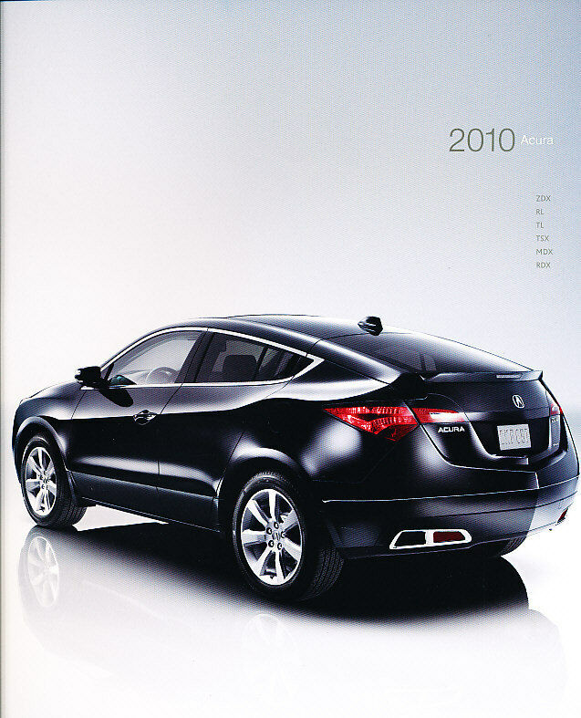 Acura Mdx Advance: 2010 Acura 40-Page Sales Brochure