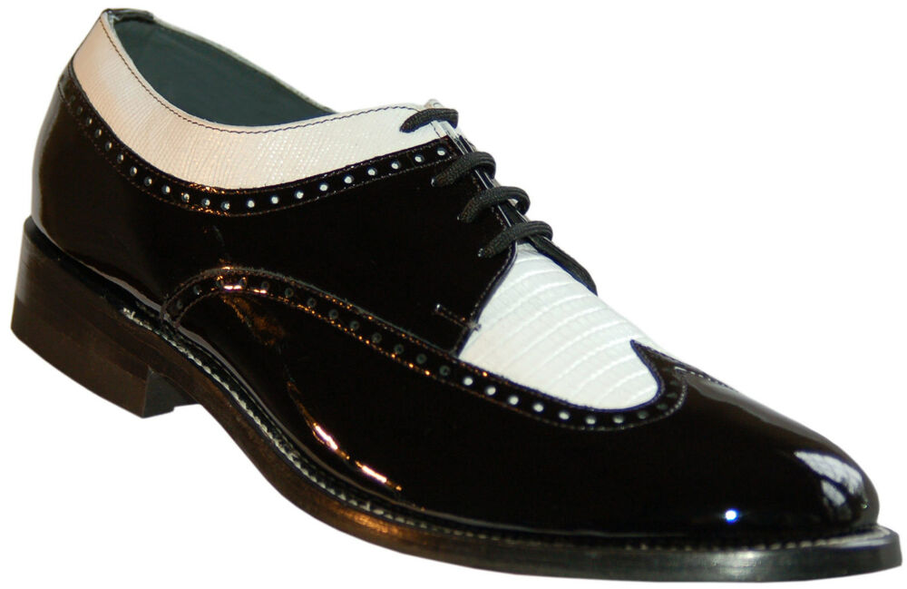 Mens White Patent Leather Platform Shoes