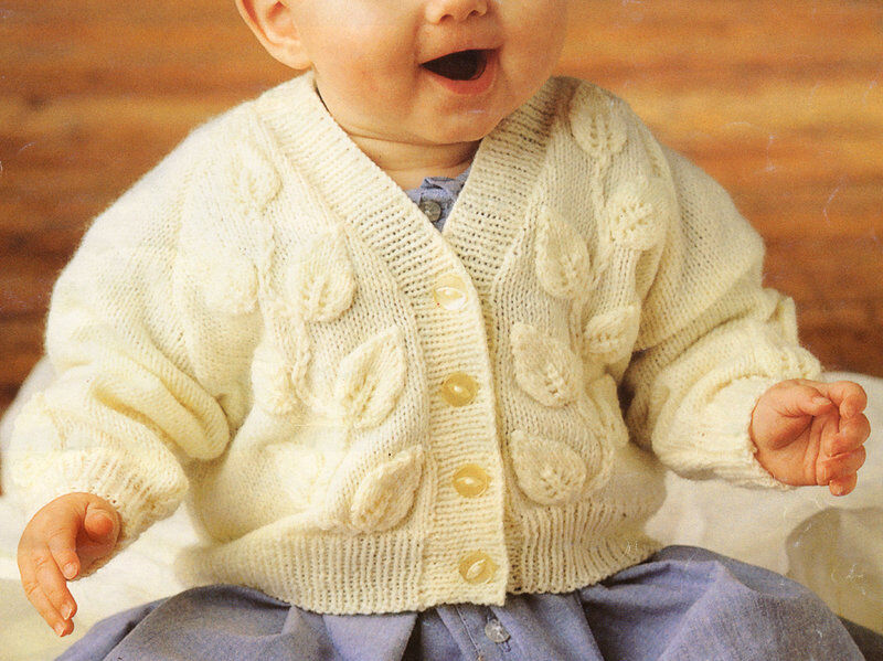 Knitting Pattern Baby Cardigan 8 Ply : Baby Cardigan Knitting Pattern 8 Ply - White Polo Sweater