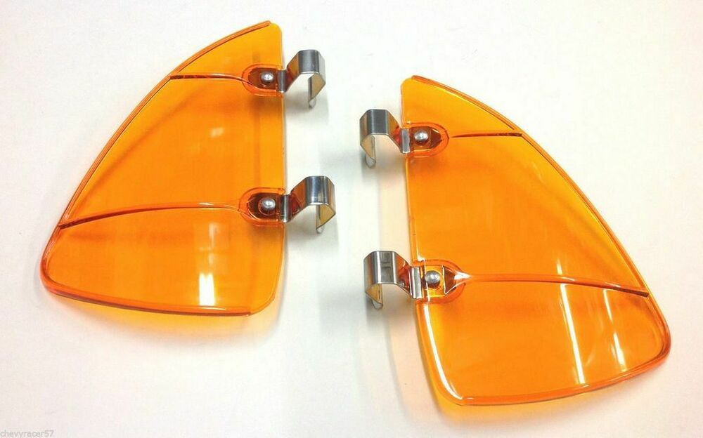 Mikes Chevy Parts ORANGE AMBER ACCESSORY VENT WING WINDOW AIR DEFLECTOR BREEZE BREEZIES ...