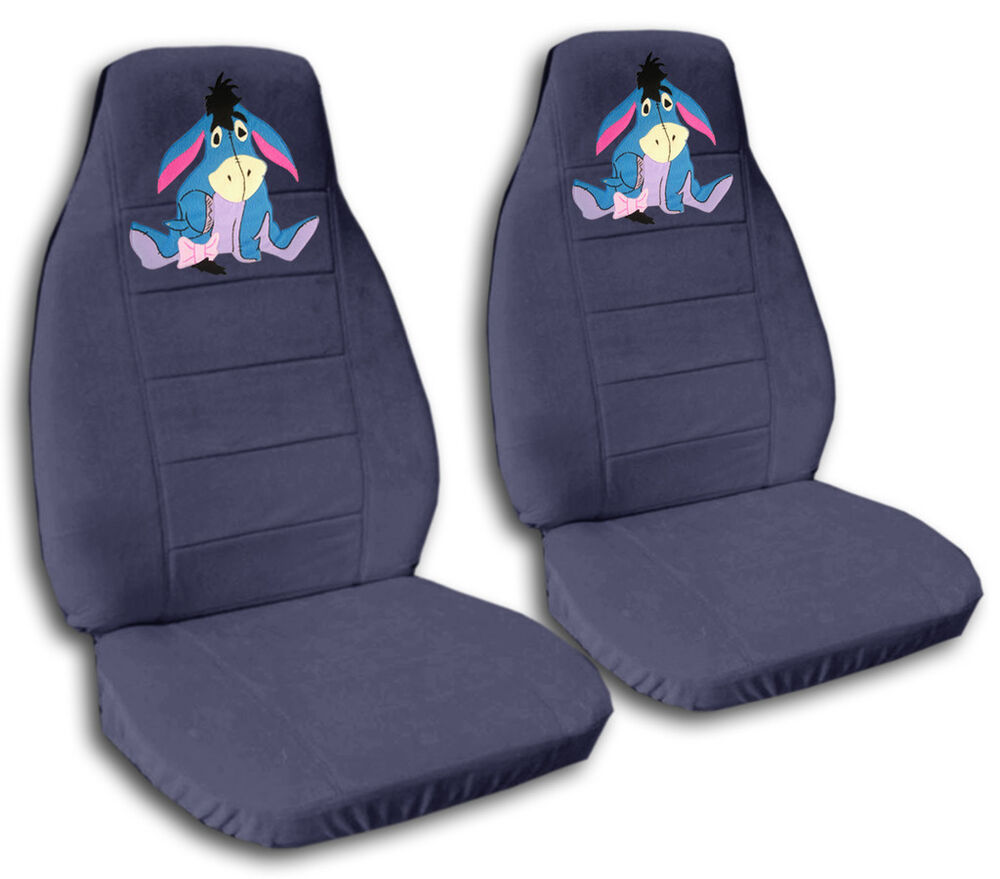 Cute Set EEYORE Front Car Seat Covers Blue GrayMORE