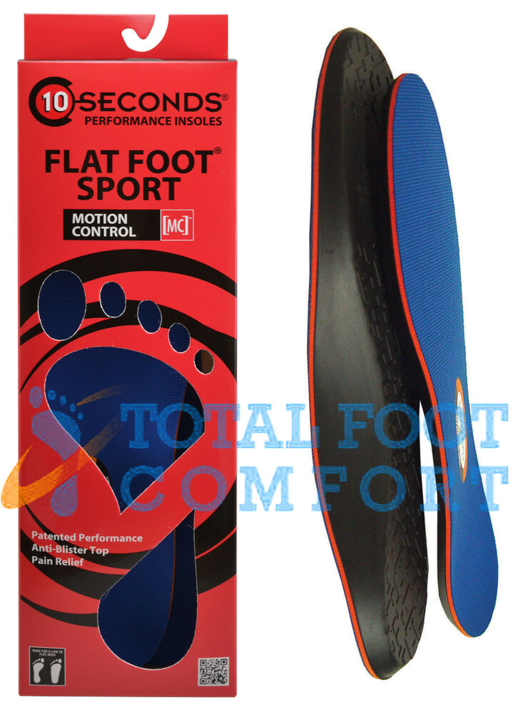 10 seconds flat foot sport arch support insoles ebay