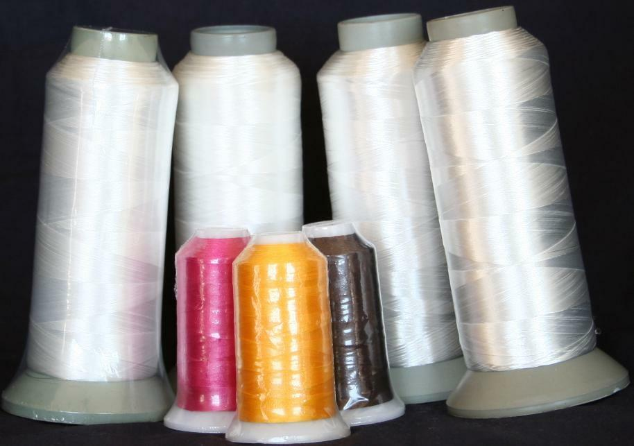 Four X Lg Cones White Bobbin Thread Machine Embroidery Ebay